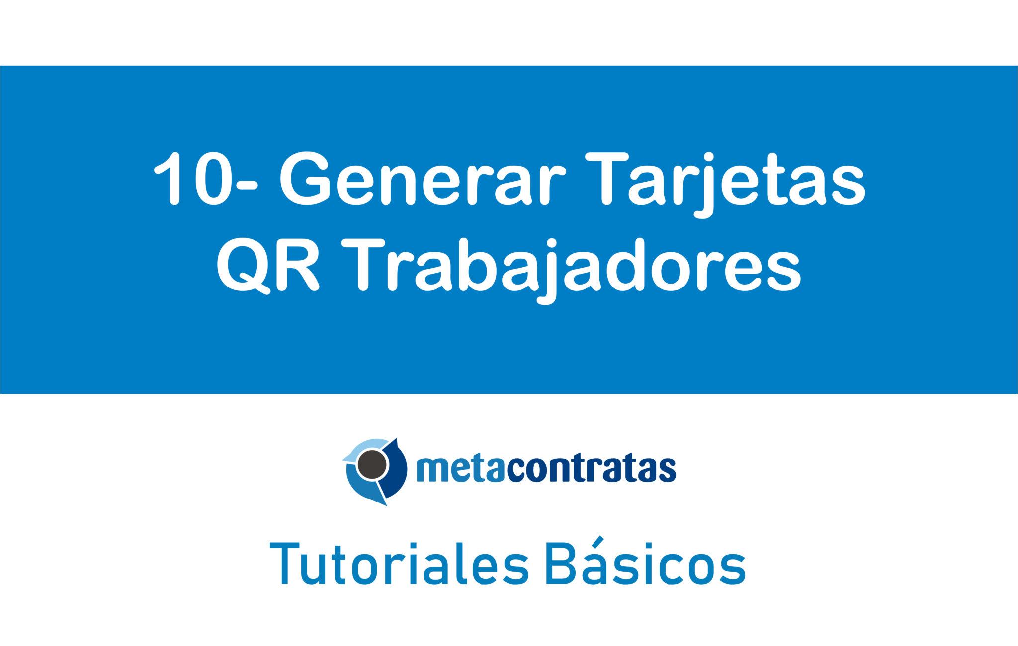cartel tutoriales básicos generar tarjetas qr trabajadores